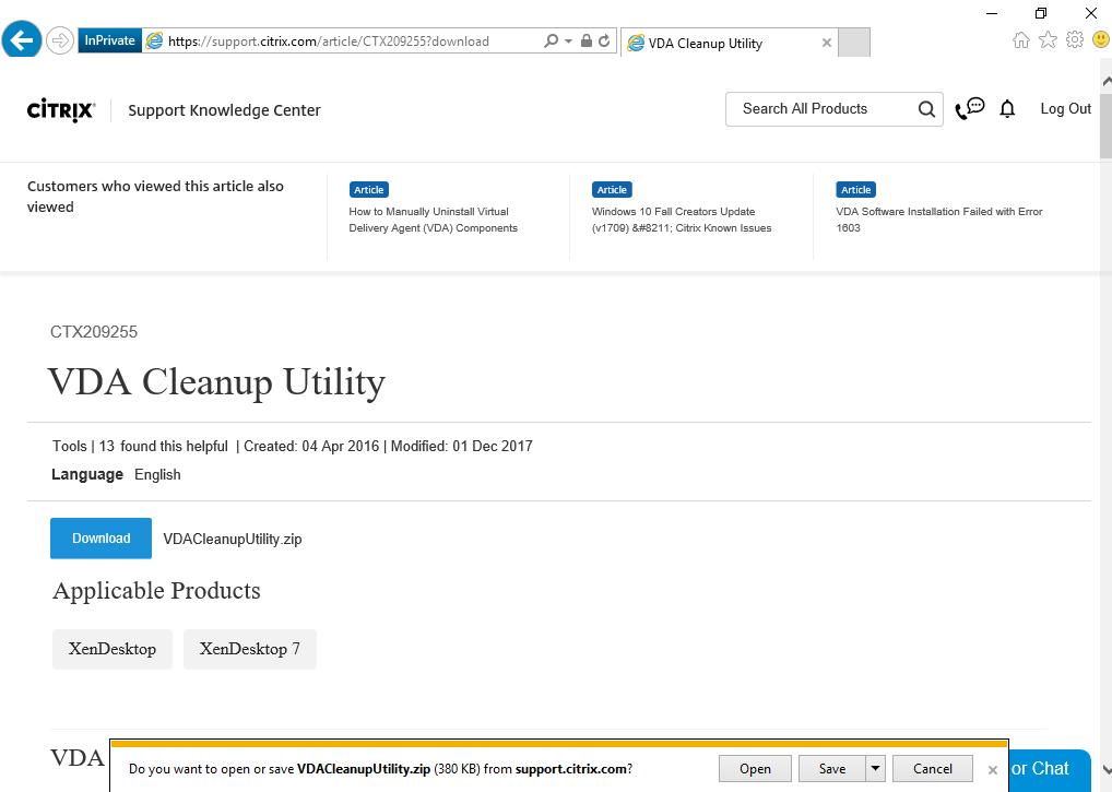Citrix Workspace Cleanup Utility